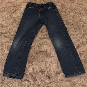 Children place slim jeans
